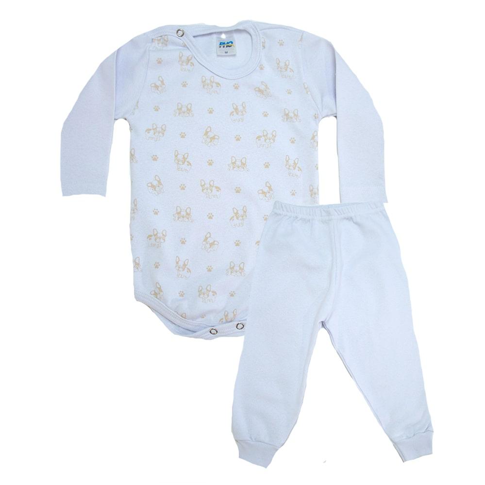Conjunto Bebê Body Dog Branco  - Jeito Infantil