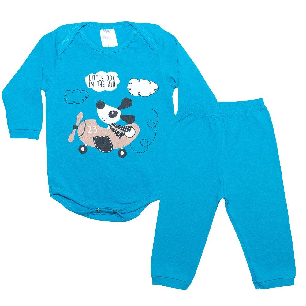 Conjunto Bebê Body Dog Royal  - Jeito Infantil