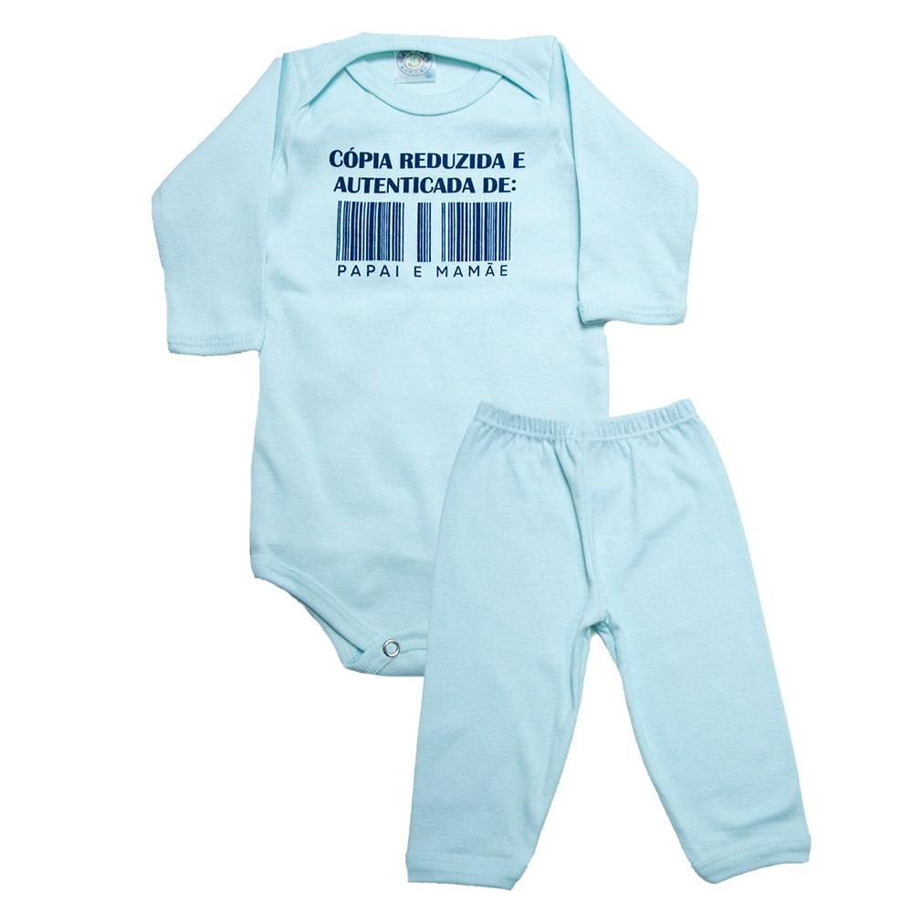 Conjunto Bebê Body e Calça Cópia Reduzida Verde  - Jeito Infantil