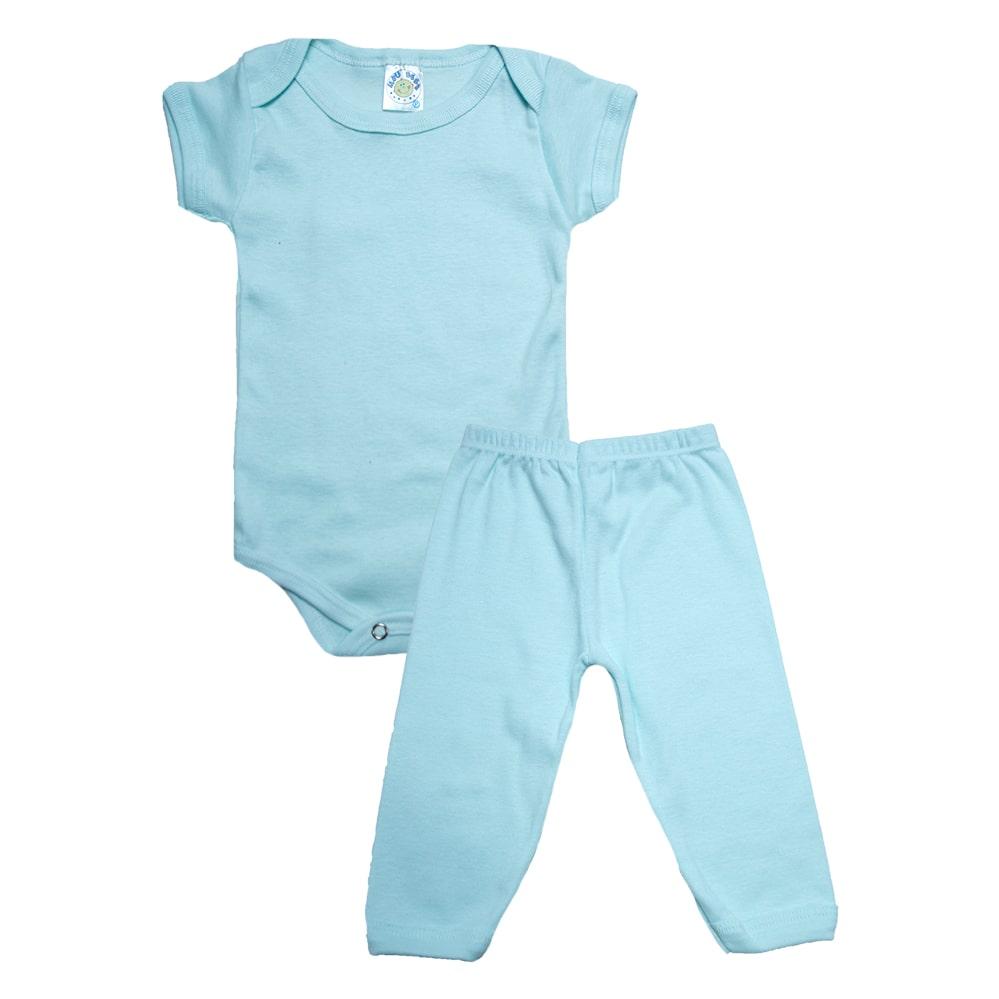 Conjunto Bebê Body e Calça Liso Verde  - Jeito Infantil