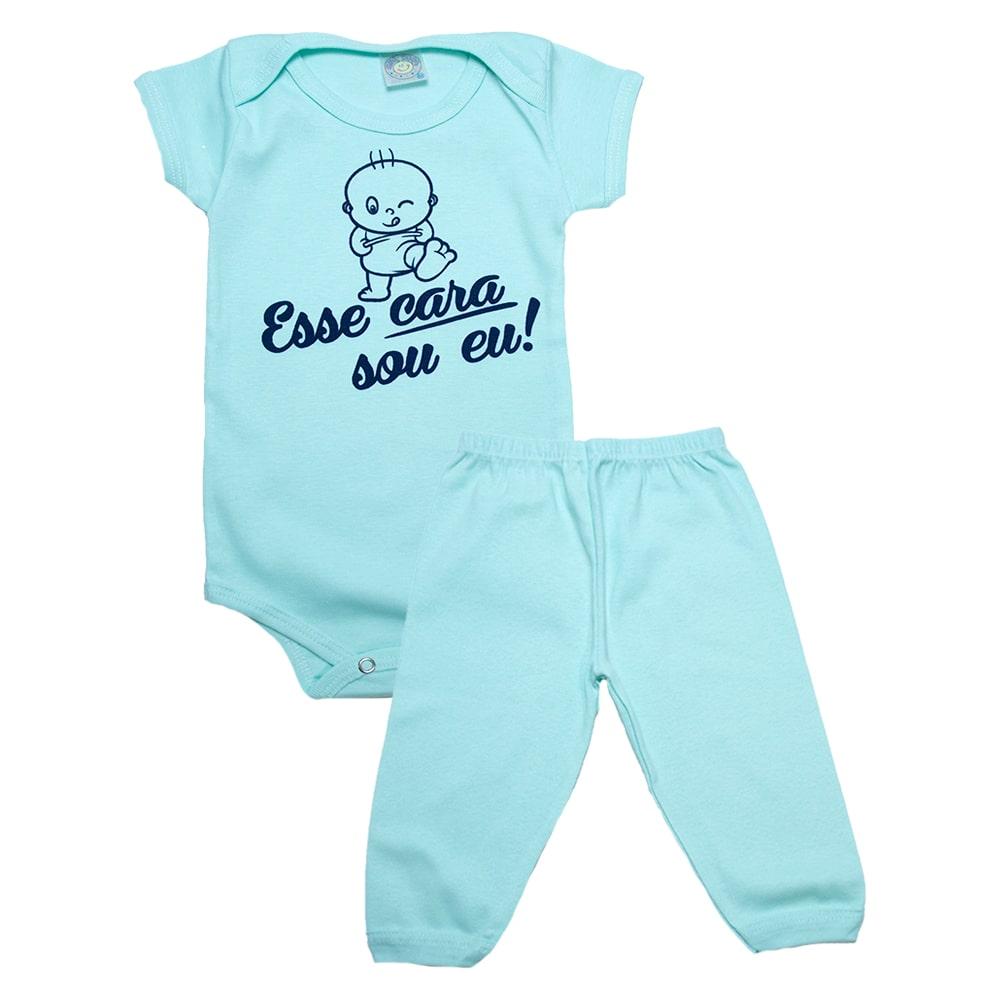 Conjunto Bebê Body Esse Cara Sou Eu Verde  - Jeito Infantil