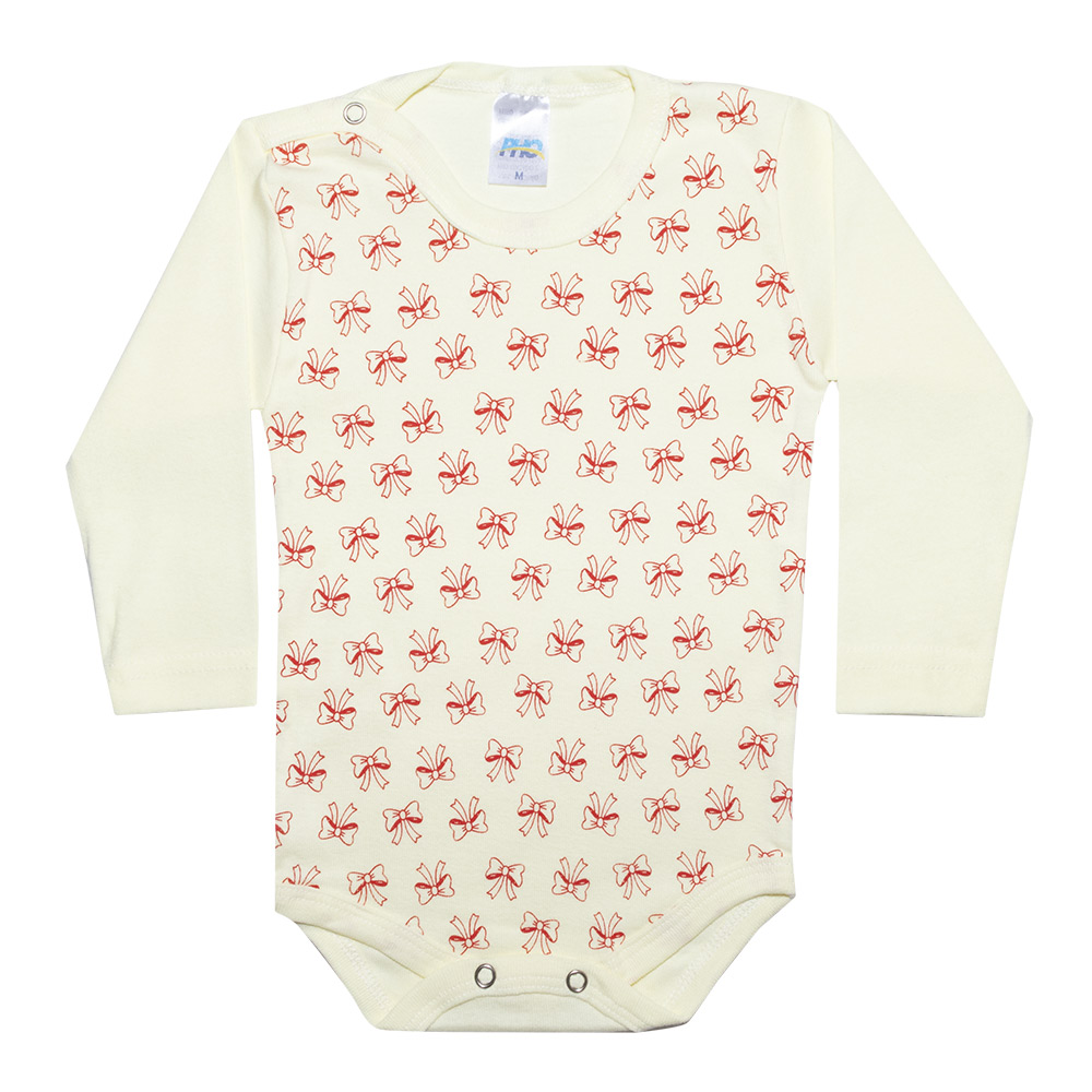 Conjunto Bebê Body Lacinhos Amarelo  - Jeito Infantil
