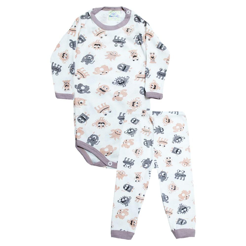 Conjunto Bebê Body Monsters Pérola  - Jeito Infantil