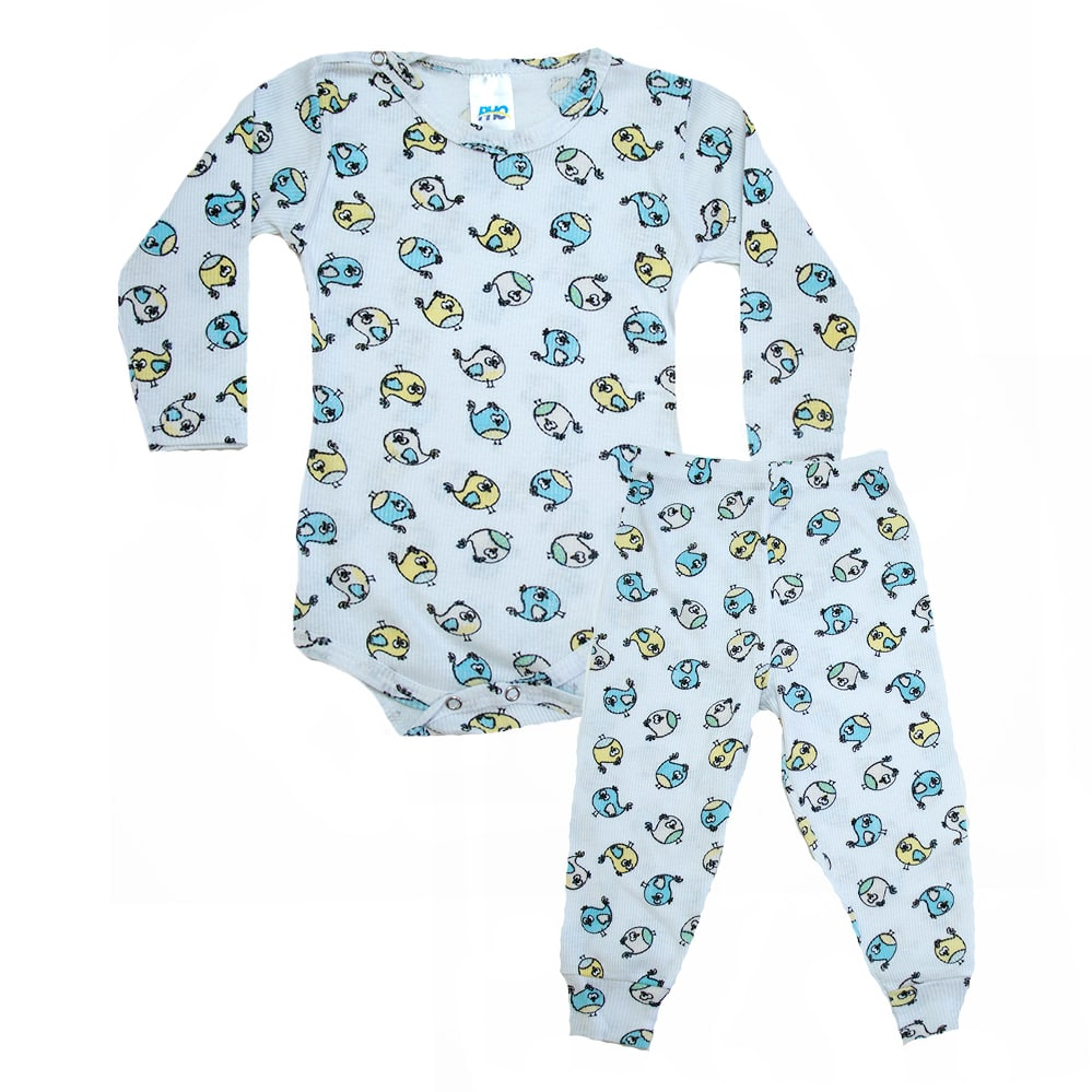 Conjunto Bebê Body Passarinhos Branco  - Jeito Infantil