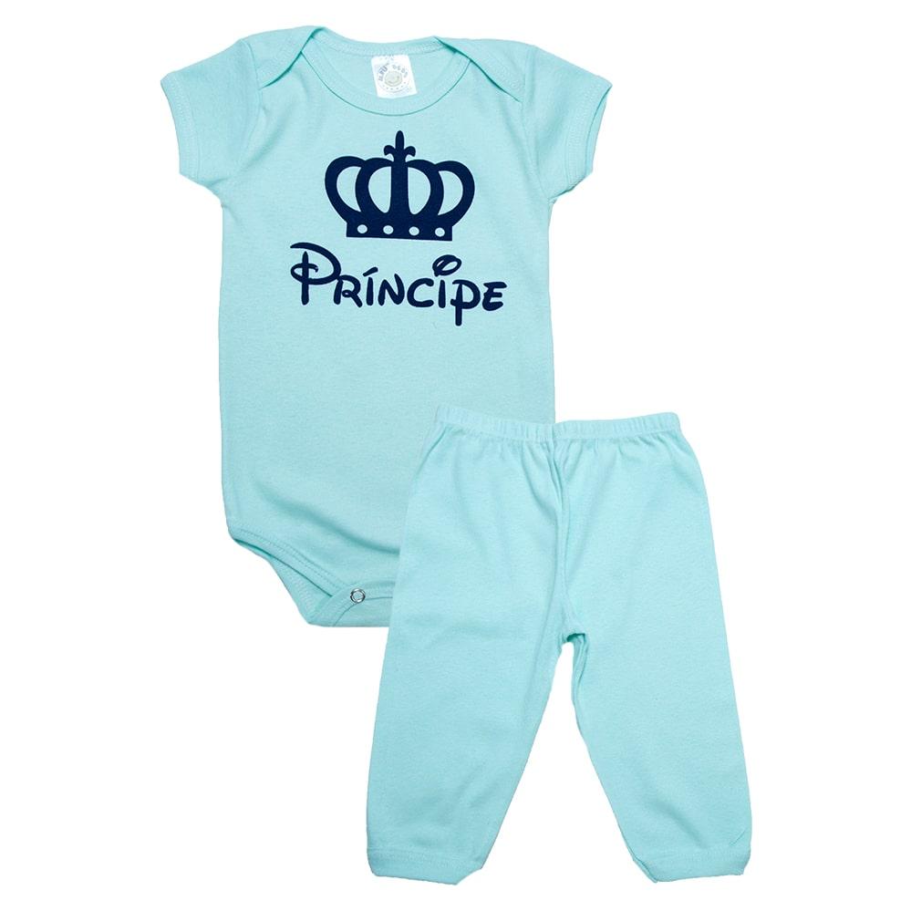Conjunto Bebê Body Príncipe Verde  - Jeito Infantil