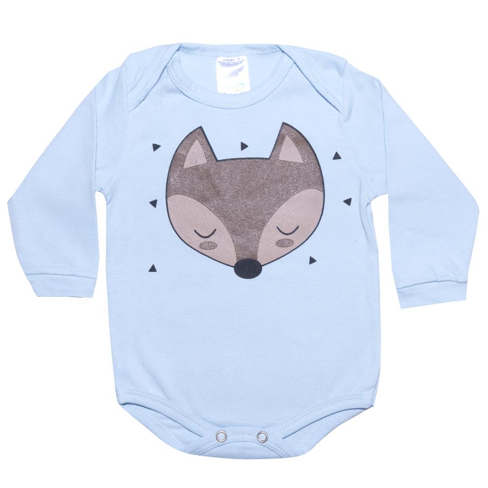 Conjunto Bebê Body Raposa Azul  - Jeito Infantil