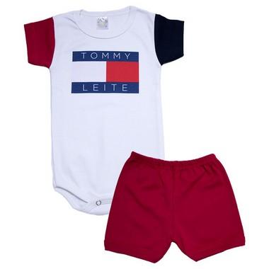 Conjunto Bebê Body Tomy Vermelho  - Jeito Infantil