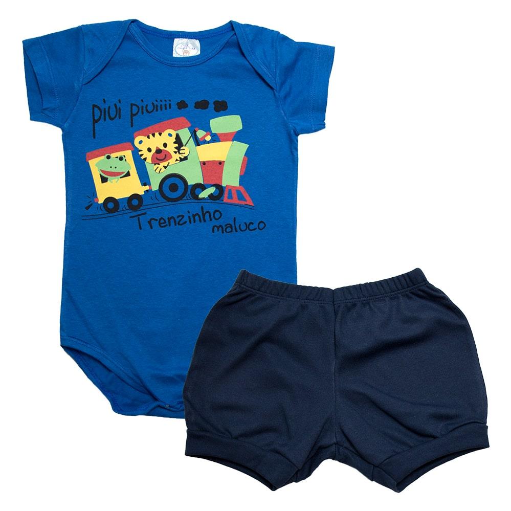 Conjunto Bebê Body Trenzinho Royal  - Jeito Infantil
