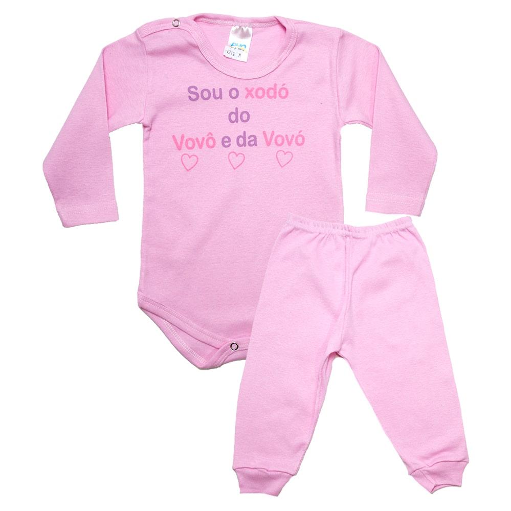Conjunto Bebê Body Xodó do Vovô e Da Vovó Rosa  - Jeito Infantil