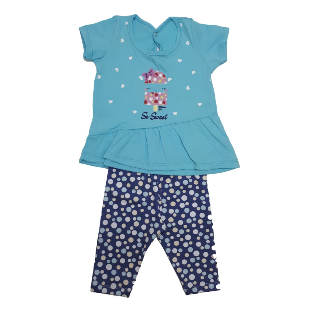 Conjunto Bebê Ciclista Azul  - Jeito Infantil