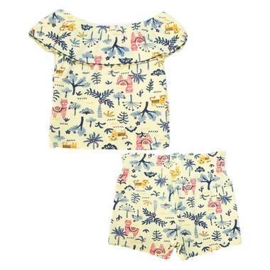 Conjunto Bebê Ciganinha Lhama  Amarela  - Jeito Infantil