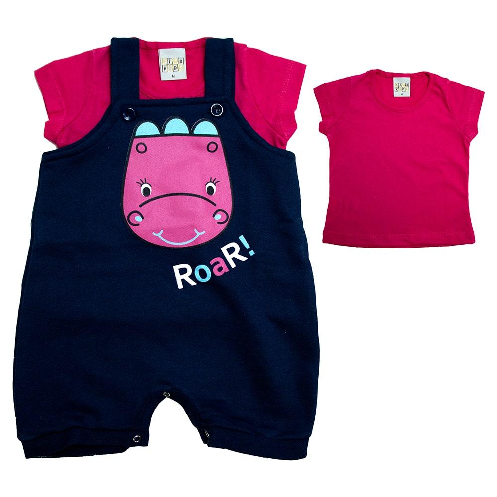Conjunto Bebê Dina Marinho e Pink  - Jeito Infantil