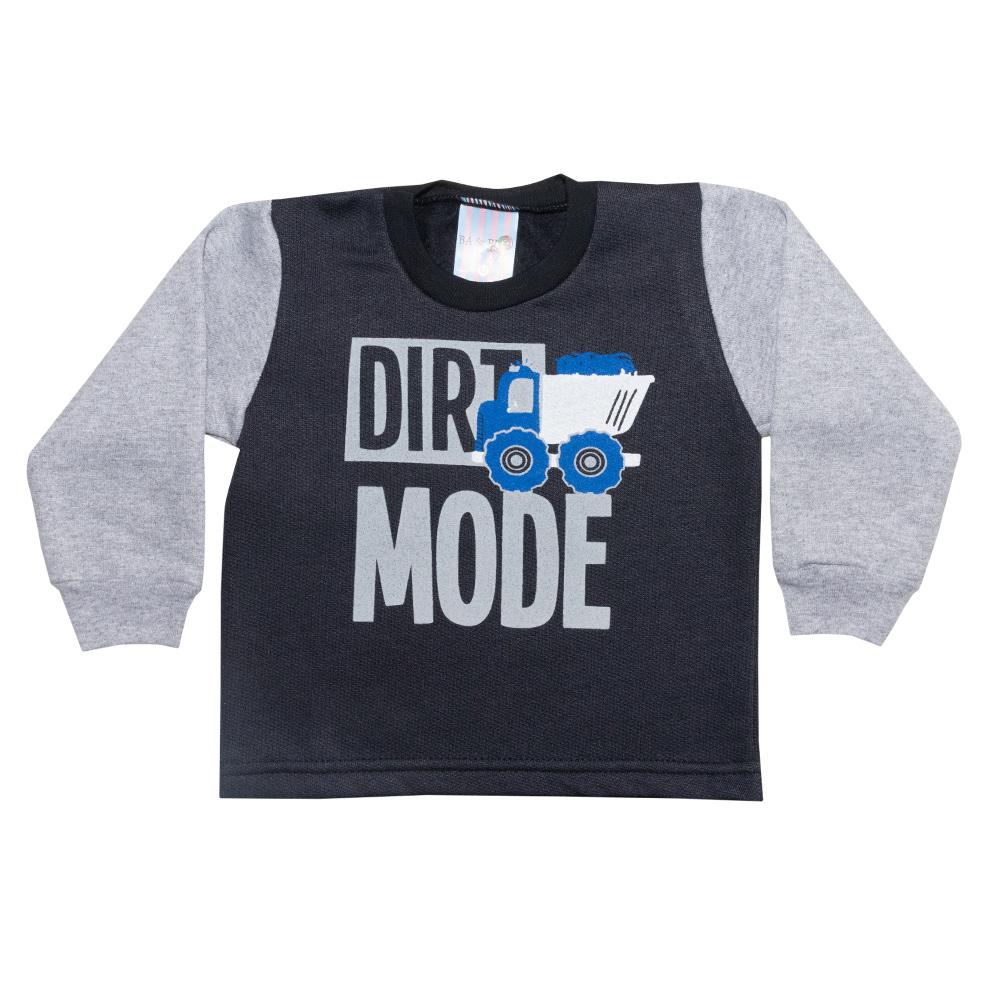 Conjunto Bebê Dirt Mode Preto  - Jeito Infantil