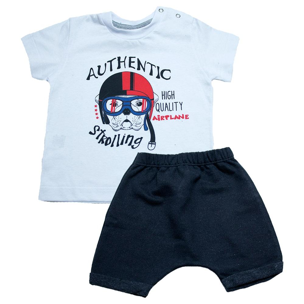 Conjunto Bebê Dog Branco  - Jeito Infantil
