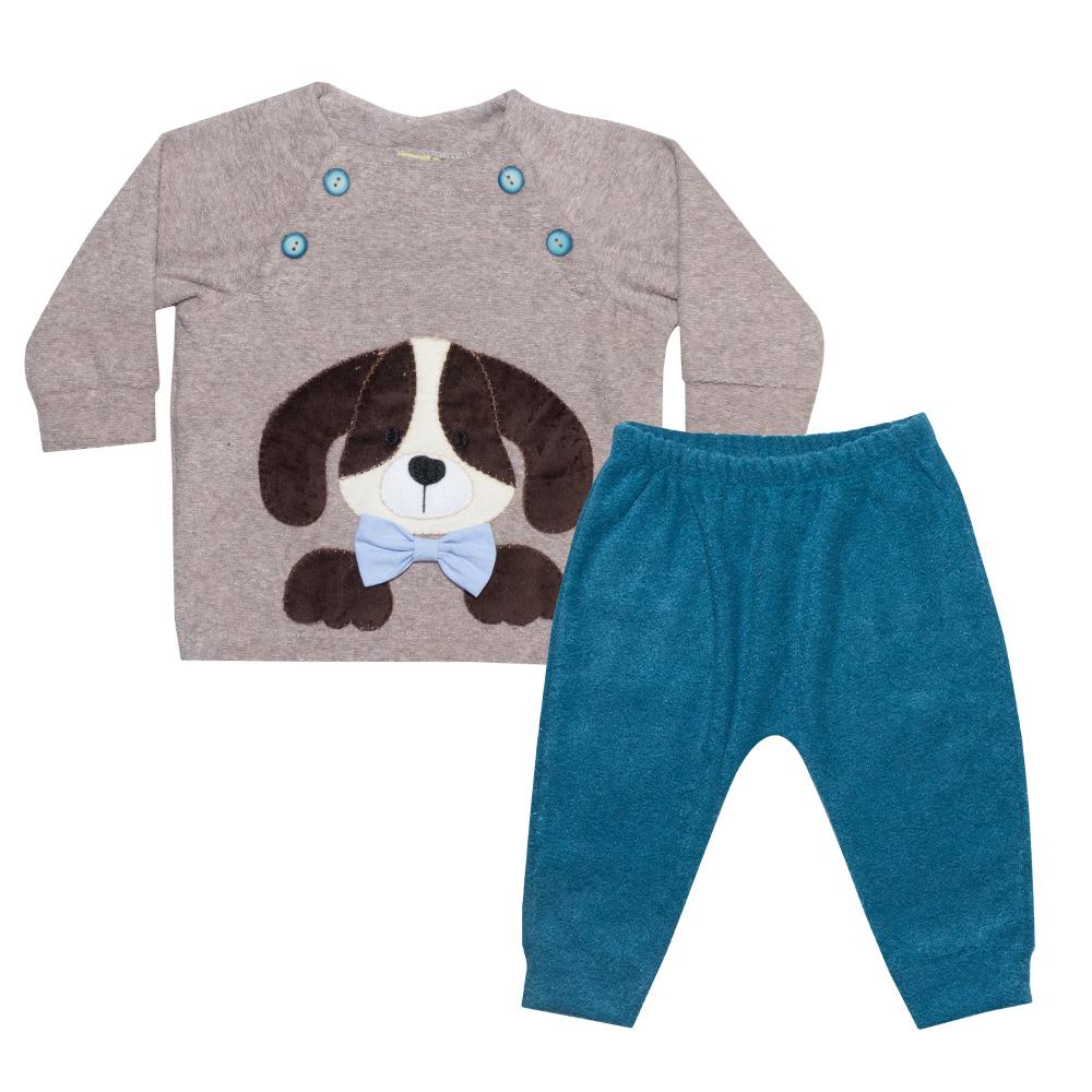 Conjunto Bebê Dog Marrom  - Jeito Infantil
