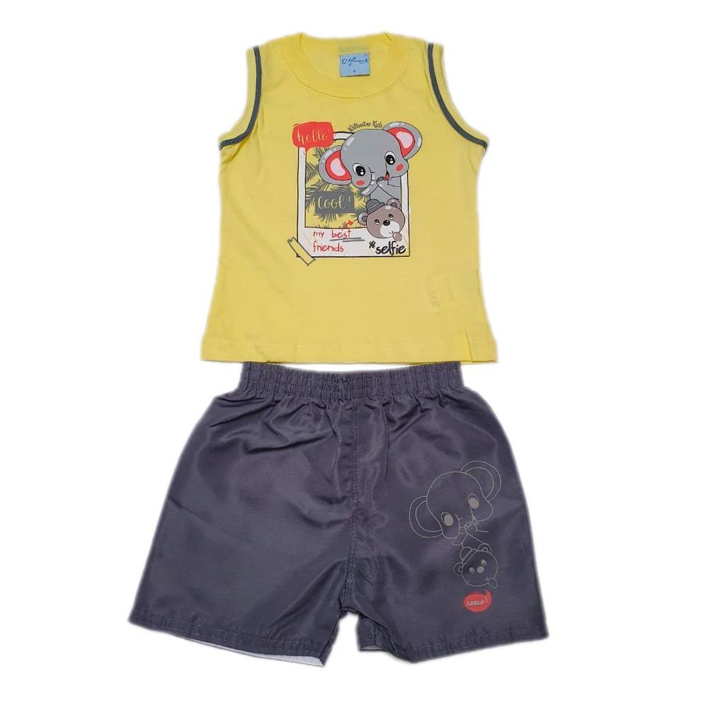 Conjunto Bebê Elefante Amarelo  - Jeito Infantil