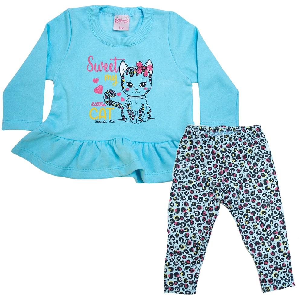 Conjunto Bebê Little Cat Azul  - Jeito Infantil