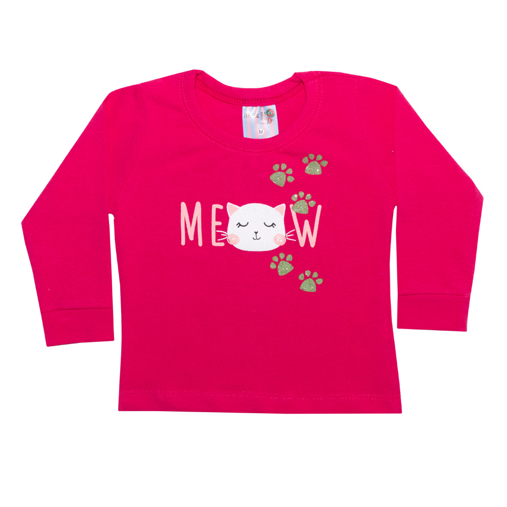 Conjunto Bebê Meow Pink  - Jeito Infantil