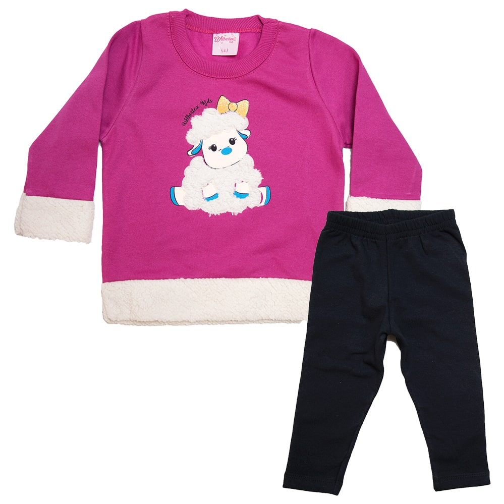 Conjunto Bebê Ovelhinha Pink  - Jeito Infantil