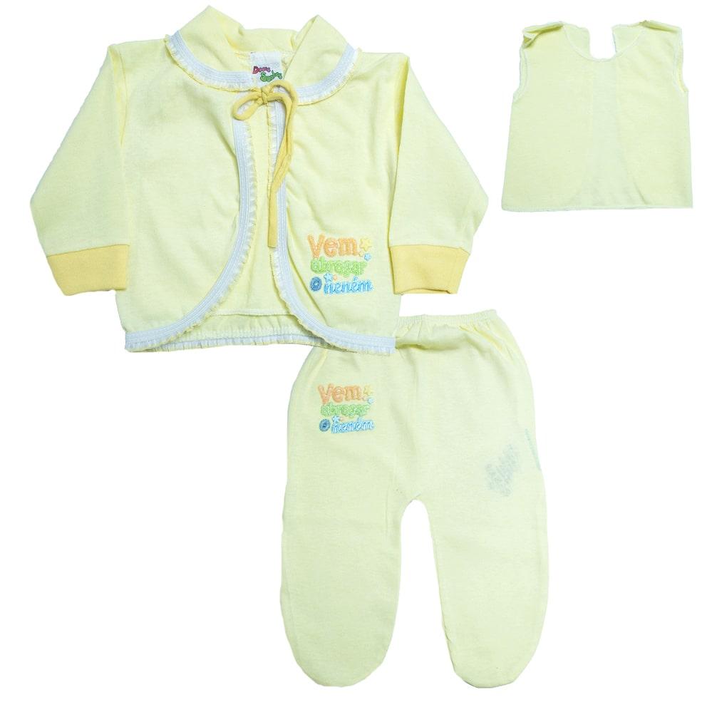 Conjunto Bebê Pagão Amarelo  - Jeito Infantil