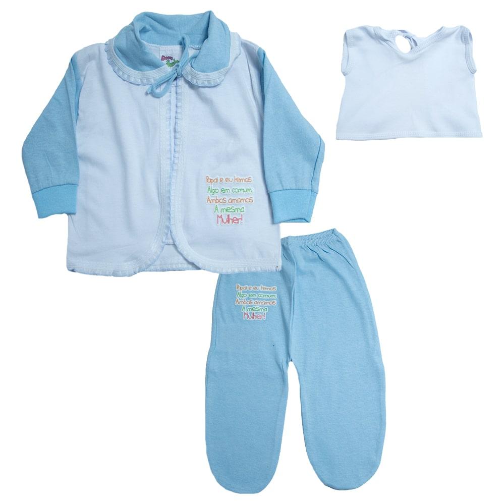 Conjunto Bebê Pagão Azul  - Jeito Infantil