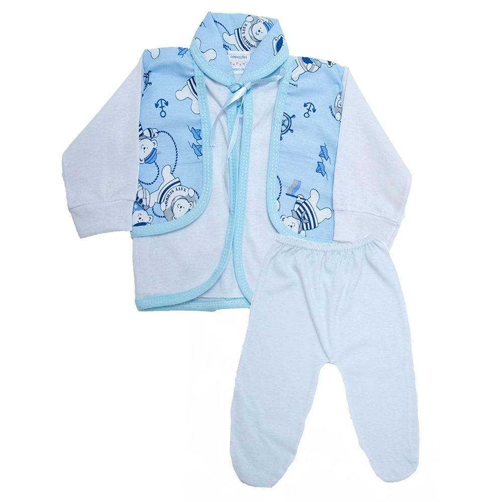 Conjunto Bebê Pagão  Branco  - Jeito Infantil