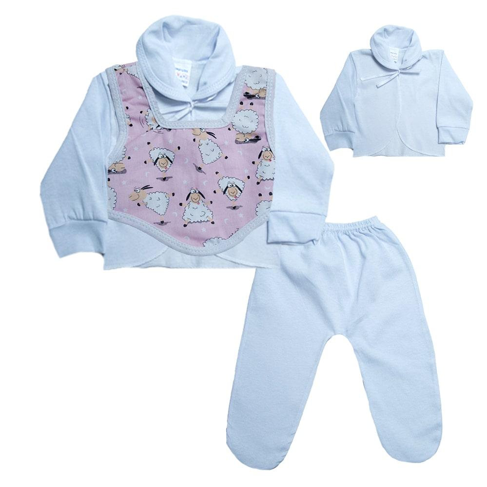 Conjunto Bebê Pagão Colete  Branco   - Jeito Infantil
