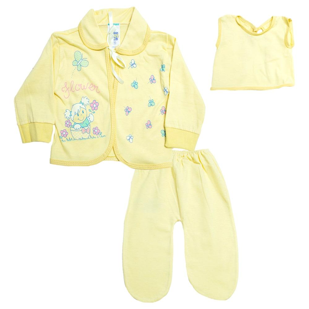 Conjunto Bebê Pagão Com Estampa Amarelo  - Jeito Infantil