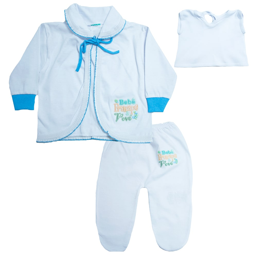 Conjunto Bebê Pagão Feroz Baby Turquesa  - Jeito Infantil