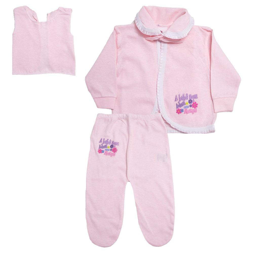 Conjunto Bebê Pagão Rosa  - Jeito Infantil