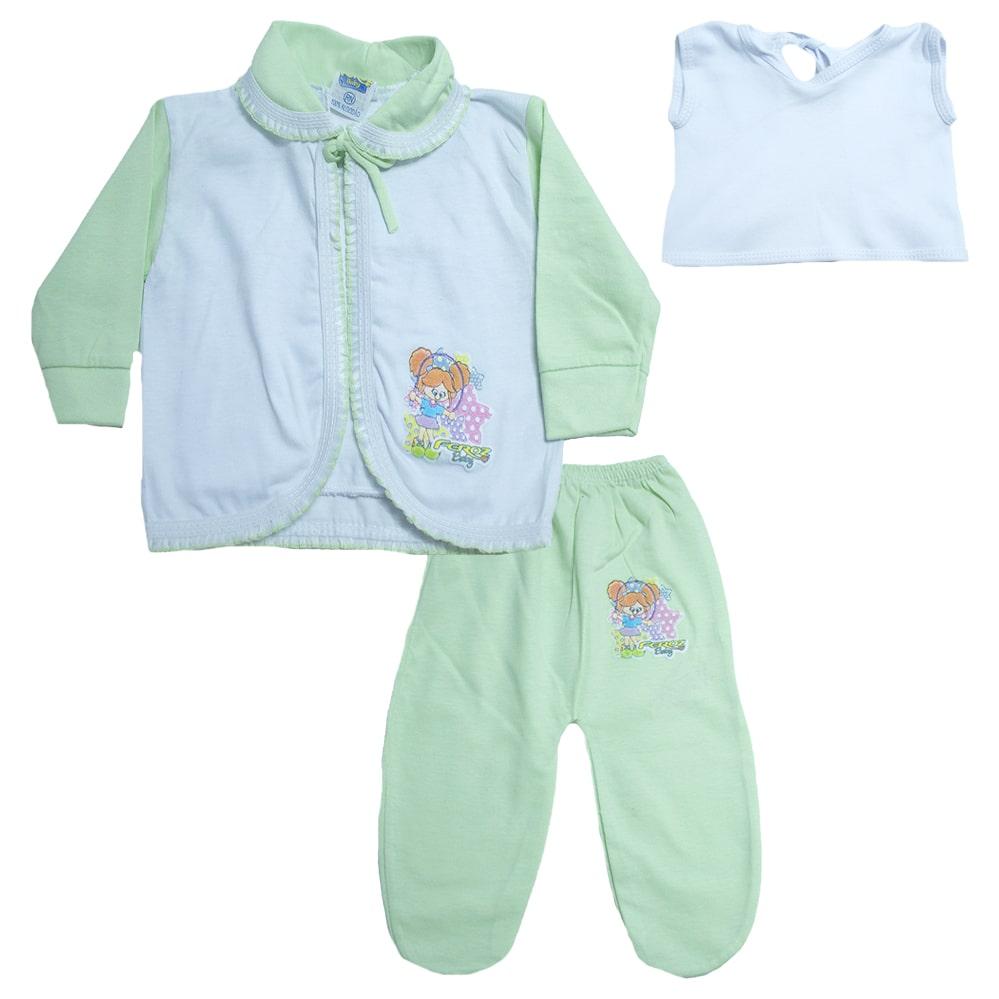 Conjunto Bebê Pagão Verde  - Jeito Infantil
