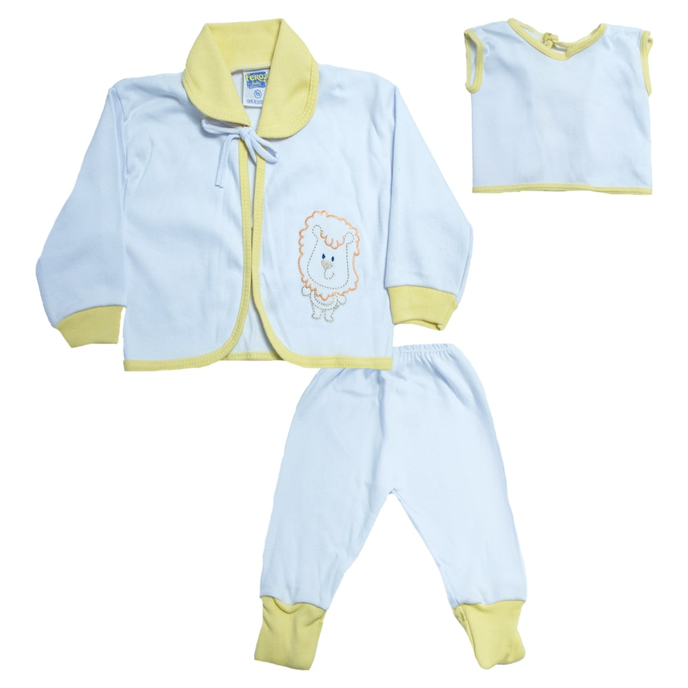 Conjunto Bebê Pagão  Vira Pé Baby Amarelo  - Jeito Infantil