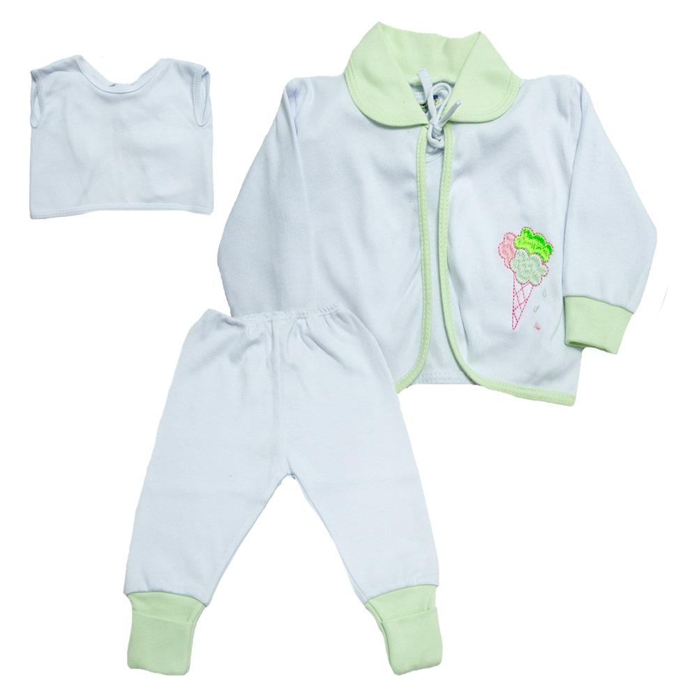 Conjunto Bebê Pagão  Vira Pé Verde  - Jeito Infantil