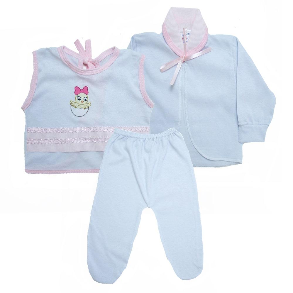 Conjunto Bebê PagãoBranco E Rosa  - Jeito Infantil