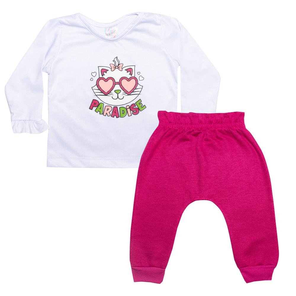 Conjunto Bebê Paradise Branco  - Jeito Infantil