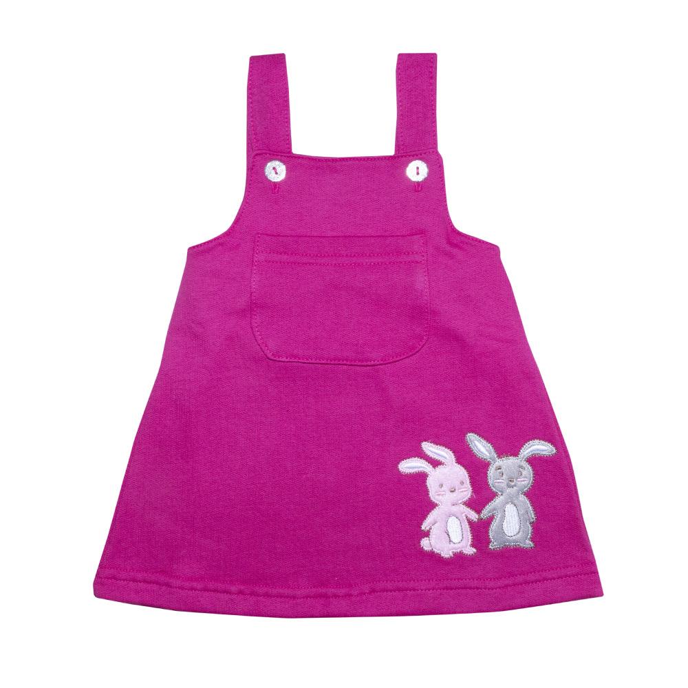 Conjunto Bebê Salopete Coelhinhos Pink  - Jeito Infantil