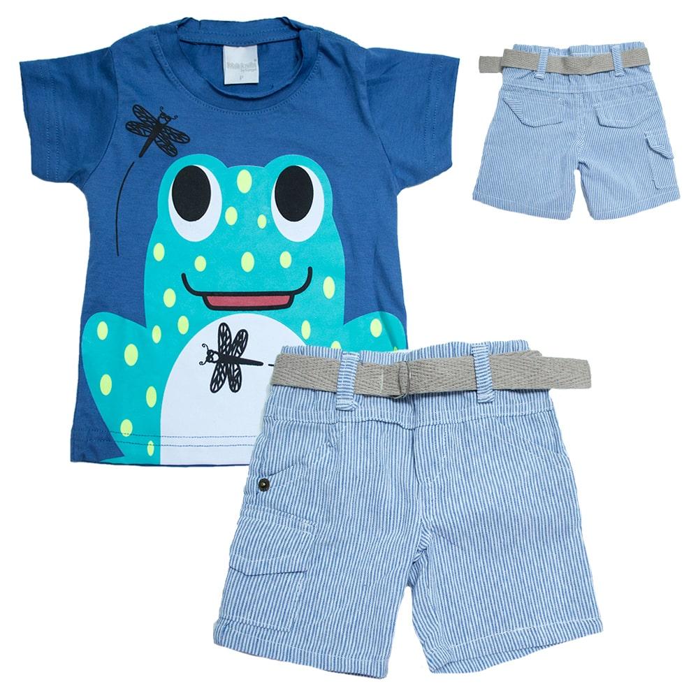 Conjunto Bebê Sapinho Azul  - Jeito Infantil