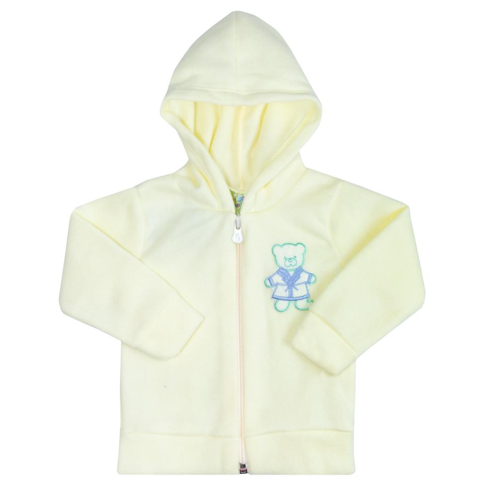 Conjunto Bebê Soft Com Zíper Amarelo  - Jeito Infantil