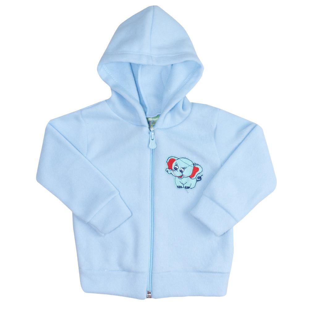 Conjunto Bebê Soft Com Zíper Azul  - Jeito Infantil