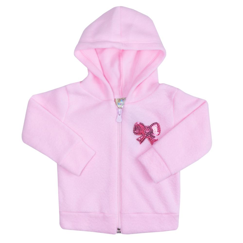 Conjunto Bebê Soft Com Zíper Rosa  - Jeito Infantil