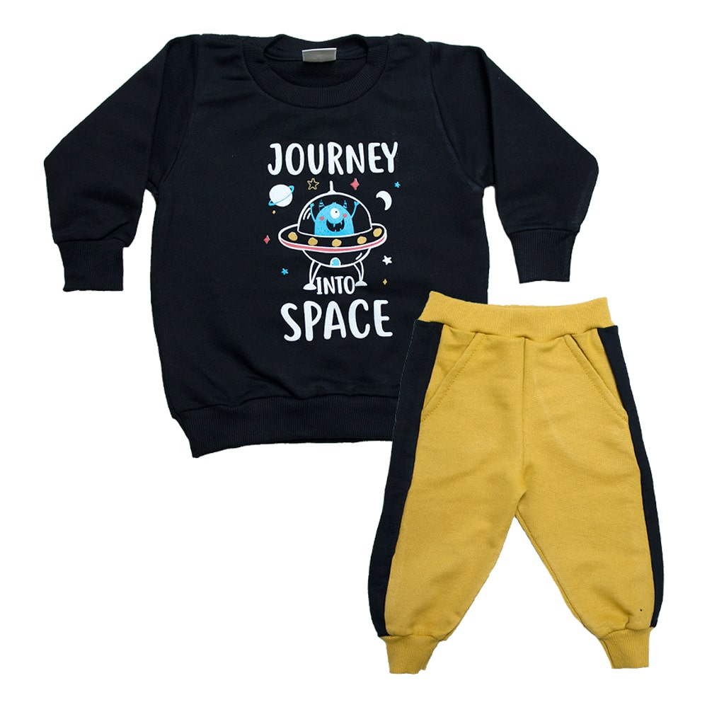 Conjunto Bebê Space Preto  - Jeito Infantil