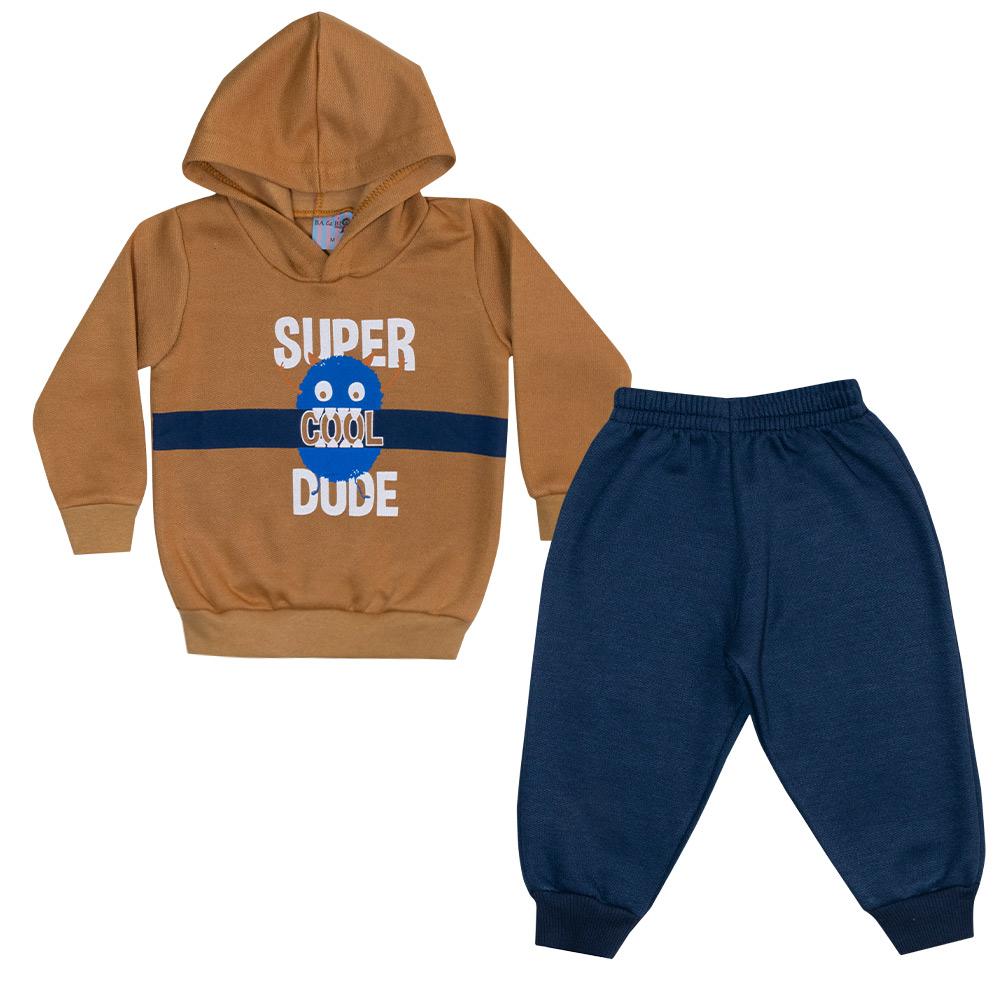 Conjunto Bebê Super Dude Mostarda  - Jeito Infantil