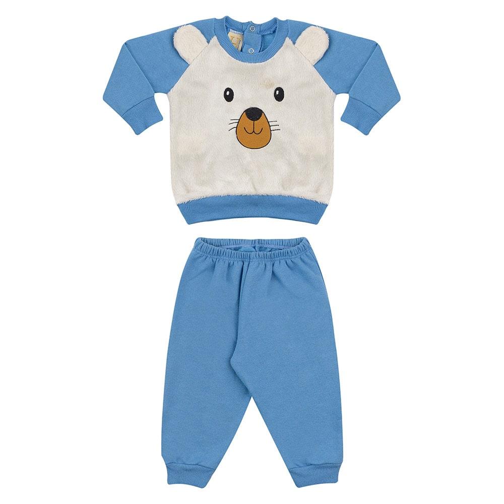 Conjunto Bebê Ursinho Azul  - Jeito Infantil