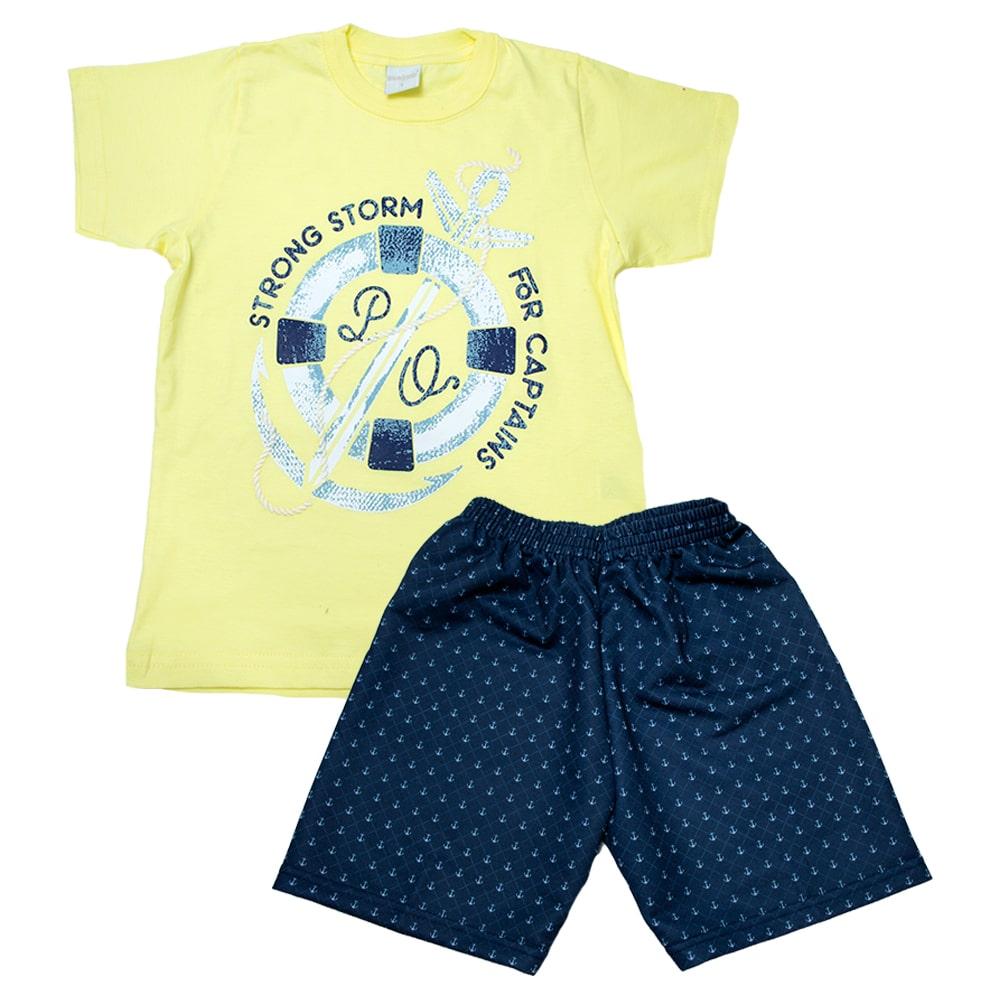 Conjunto Infantil Âncora Amarelo  - Jeito Infantil