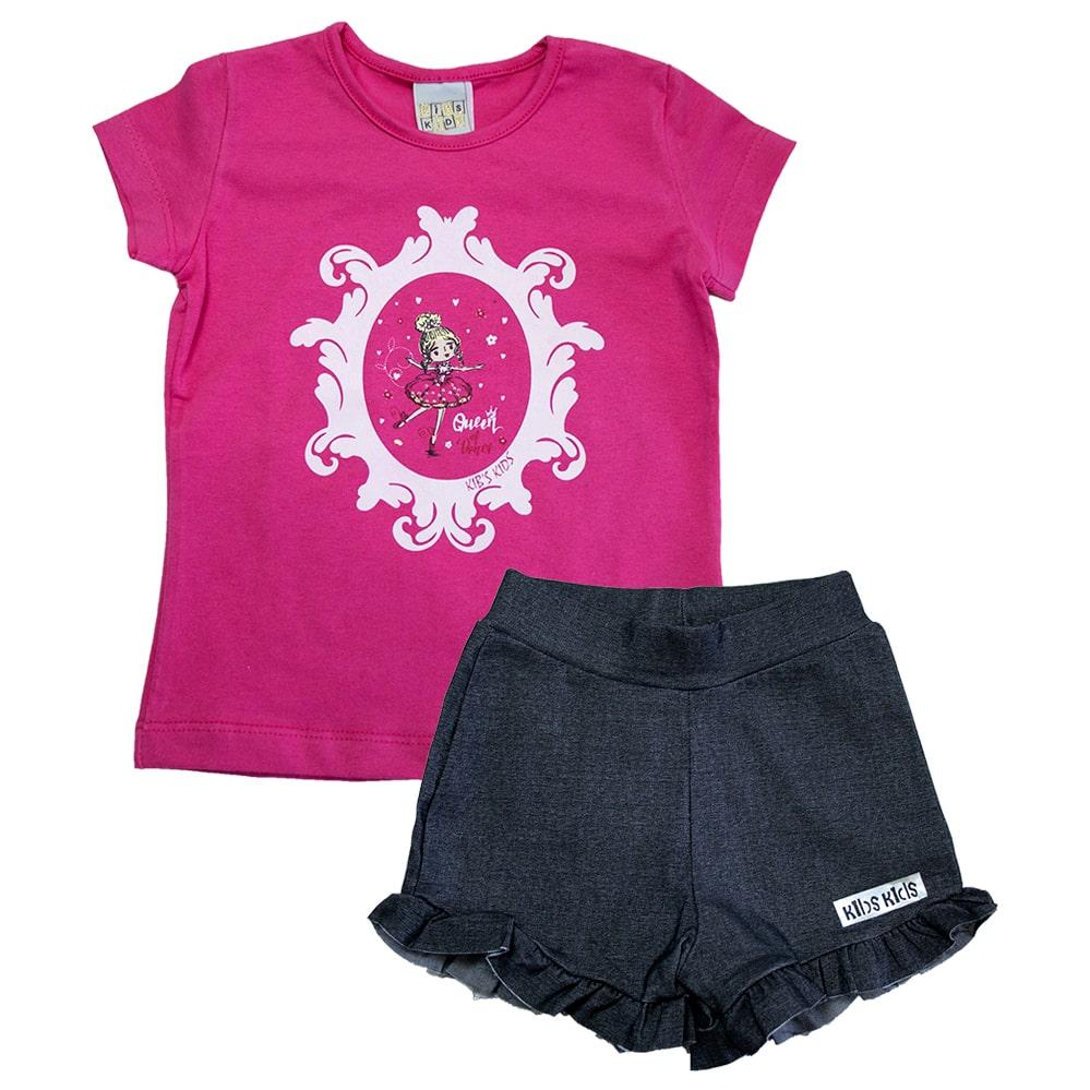 Conjunto Infantil Bailarina Pink  - Jeito Infantil