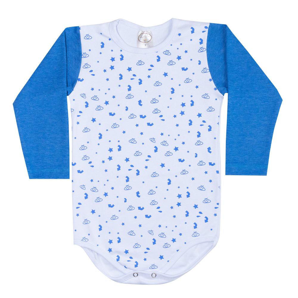 Conjunto Infantil Body Estrelas Royal  - Jeito Infantil