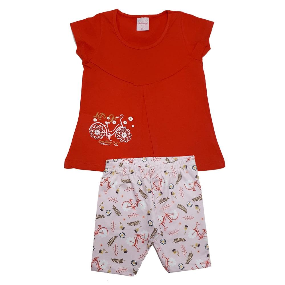Conjunto Infantil Ciclista Vermelho  - Jeito Infantil