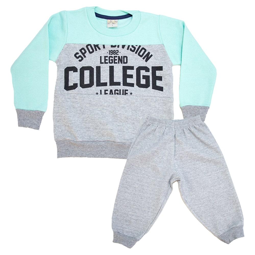 Conjunto Infantil College Mescla  - Jeito Infantil