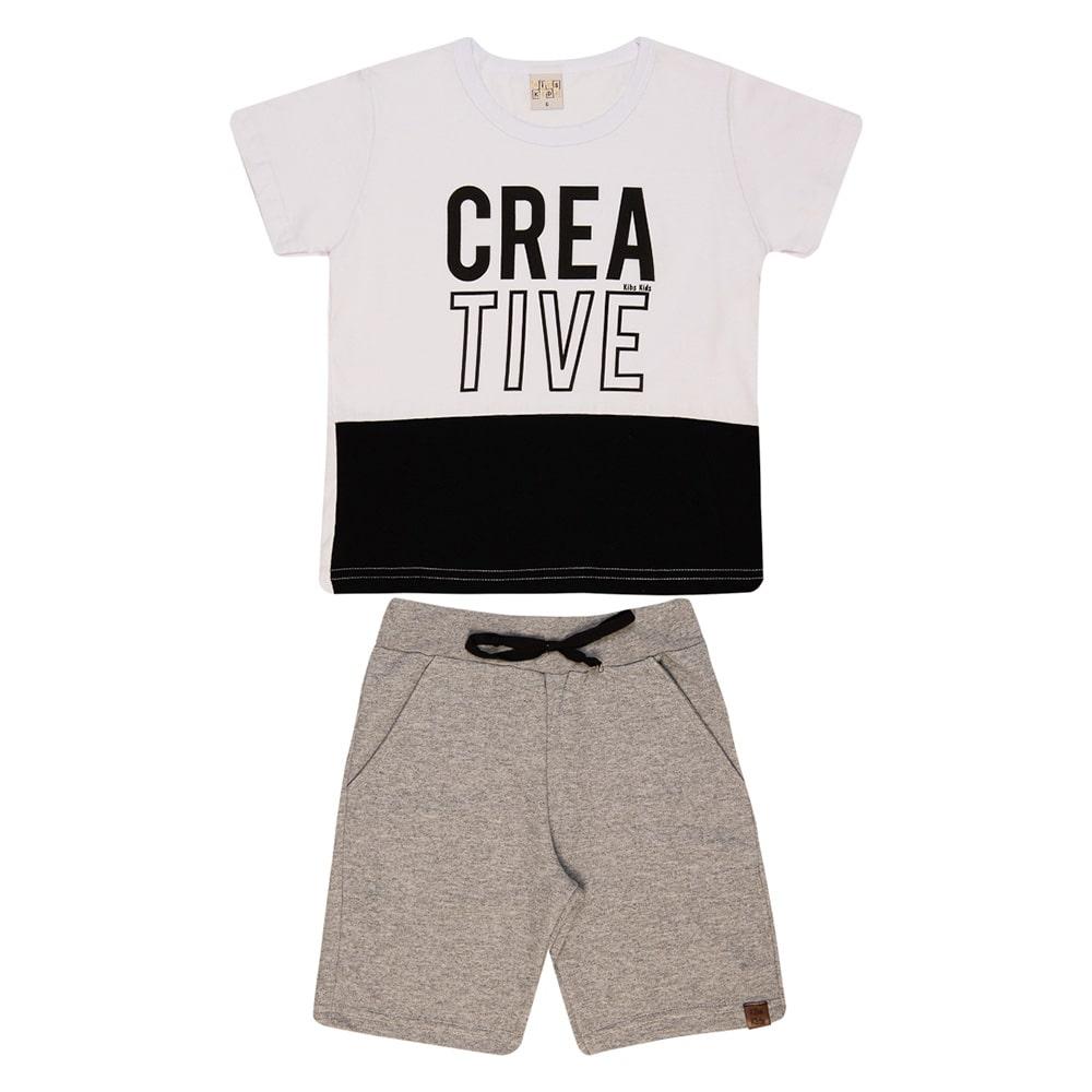 Conjunto Infantil Creative Branco  - Jeito Infantil
