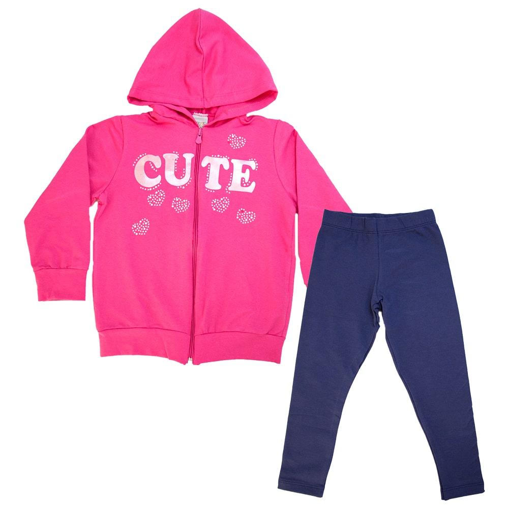 Conjunto Infantil Cute Pink  - Jeito Infantil